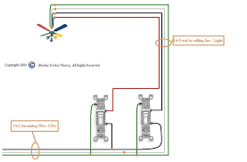 wiring a ceiling fan with two switches within connecting ceiling fan with light