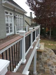 House Railings Metal Vertical Railing For Deck Natural Home Pinterest