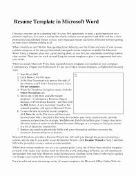 15 Elegant Microsoft Word Resume Template Sample 2010 Best Of Free
