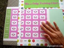 potty training chart printable diy inspired