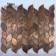 Antique copper metal mosaic tile for ...