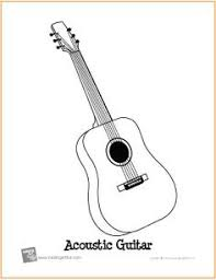 Small Picture Electric guitar pattern Use the printable outline for crafts