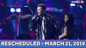 Justin Timberlake Postpones Kc Concert At Sprint Center Due