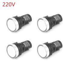 220v Pilot Light Mad Hornets 4pcs Led Indicator Pilot Light Signal Lamp Panel 220v 22mm Ip65 Ad16 22 White