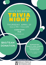 2017 Trivia Night Flyer Workers Arts And Heritage Centre