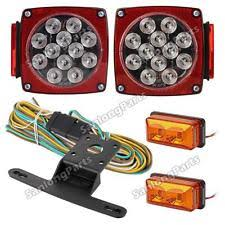 led submersible trailer lights ebay Semi Trailer Light Wiring led submersible trailer boat tail turn stop side marker clearance light kit wire semi trailer lights wiring diagram