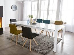 Design Esszimmertisch Gloss Ausziehbar Weiß Hochglanz Tisch Esstisch Küchentisch
