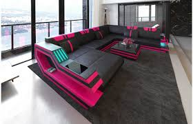 Xxl Wohnlandschaft Ravenna Leder Fabric Sofa Sofa Modern
