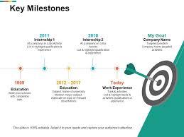 Company Milestones Example Key Milestones Work Experience Ppt Powerpoint Presentation