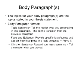 How To Write Topic Sentences For Essays Academic Writing Paragraphs