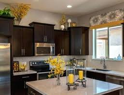 decorating above kitchen cabinets. Greenery Above Kitchen Cabinets Brown Cabinet Sets Grey Decorating