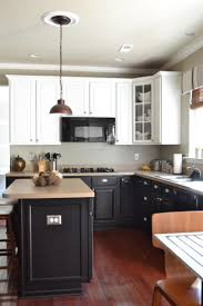 Limestone Countertops Black And White Kitchen Cabinets Lighting