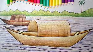 Small Picture How to Draw a Boat House for Children with Coloring Pages Drawing