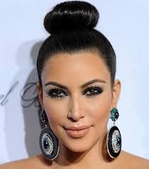 beauty idea 2 kim kardashian s way up top knot