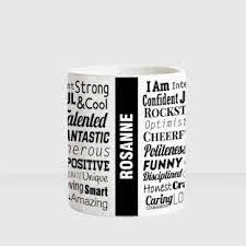 HUPPME ROSANNE Good Personality White Ceramic coffee Name Ceramic Coffee  Mug Price in India - Buy HUPPME ROSANNE Good Personality White Ceramic  coffee Name Ceramic Coffee Mug online at Flipkart.com