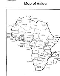 Africa Map With Country Label Coloring Pages Education World Map