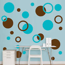 polka dot wall decals in diffe shapes and colors design ideas