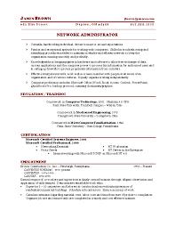 Storage Administration Sample Resume