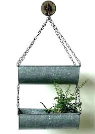 galvanized metal wall planter hanging planters with zinc round canada