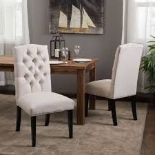 mirabelle dining chair 2 pack fabric dining room upholstered parsons chairs