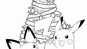 Small Picture Pokemon Christmas Coloring Pages Pictures Coloring Pokemon