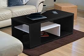 Table basse bois noir | Acp37