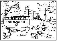 Vrachtschip Tekening Port Of Rotterdam Havenbedrijf Rotterdam