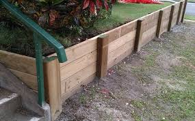 wood or timber retaining wall cost in