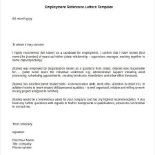 reference letter sample for employment 10 employment reference letter templates free sample example