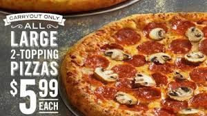 pizza fans rejoice starting may 20th domino s is offering its large pizzas at a small through may 26th you can get a large 2 topping pizza for