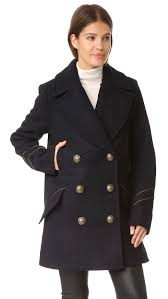 free people sedgwick pea coat navy women clothing jackets coats free people shoes for