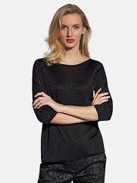 <b>Пуловер</b> с круглым вырезом <b>Basler</b> - черный цвет. Размеры - 36 ...