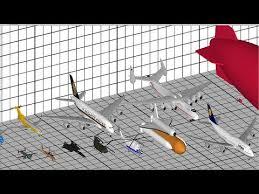 Airplane Size Chart Aircraft Size Comparison 3d
