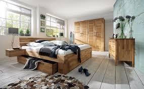 Schlafzimmer Set Kompletteinrichtung Kernbuche Massiv Geölt Bett