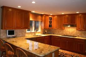 Remodelling Rustic Kitchens With Jacksonville Florida Wooden Kitchen  Cabinets, Recessed Kitchen Ceiling Lights, And