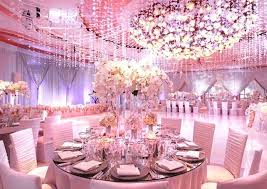 round table decoration ideas pink wedding party decorations with large round tables and small chairs also