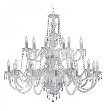 hale georgian style crystal chandelier with barley twist glass and chrome arms delicately trimmed crystal