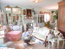 Chic country decor living room shabby-chic style with garden decor garden  decor