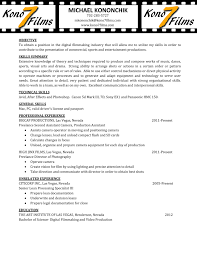 Videographer Resume Sample 4 Templates Editor - Techtrontechnologies.com
