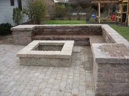 patio with square fire pit. Beautiful Fire Fire Pit Designs  This Fire Pit And Sitting Bench Were Created With Weston  Wall Block By  For Patio With Square