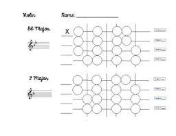 Violin Finger Pattern Chart For Flat Key Signatures Violin Finger Pattern Worksheets Teaching Resources Tpt