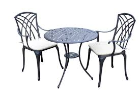 F Chair And Table Design  Round Outdoor Bistro Cushions Comfy
