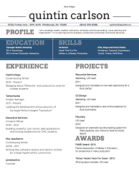 Resume Font Resume For Study