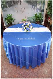 60 bedding alluring blue round tablecloth 120 royal no 169 satin table cover chair sash for wedding