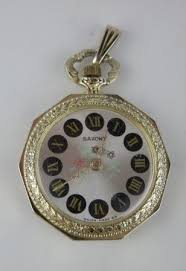 vintage saxony swiss made pendant watch
