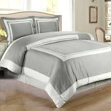 gray light gray hotel duvet cover set