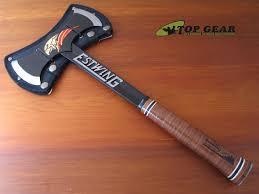 estwing double bit axe. estwing black eagle double bit tomahawk - leather grip edba axe e