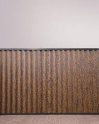 3 rustic corrugated steel panel