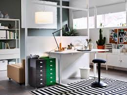 ikea storage office. A Home Office Inside The Living Room With Desk In Ash Veneer And Swivel Ikea Storage F