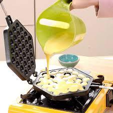 Eggette's kitchen is at eggette's kitchen. Egg Boilers Home Kitchen Make Hong Kong Style Bubble Egg Waffles Aluminum Non Stick Egg Waffle Pan Egg Bubble Waffle Maker Cake Baking Mold For Kitchen Pancake Double Side Pan